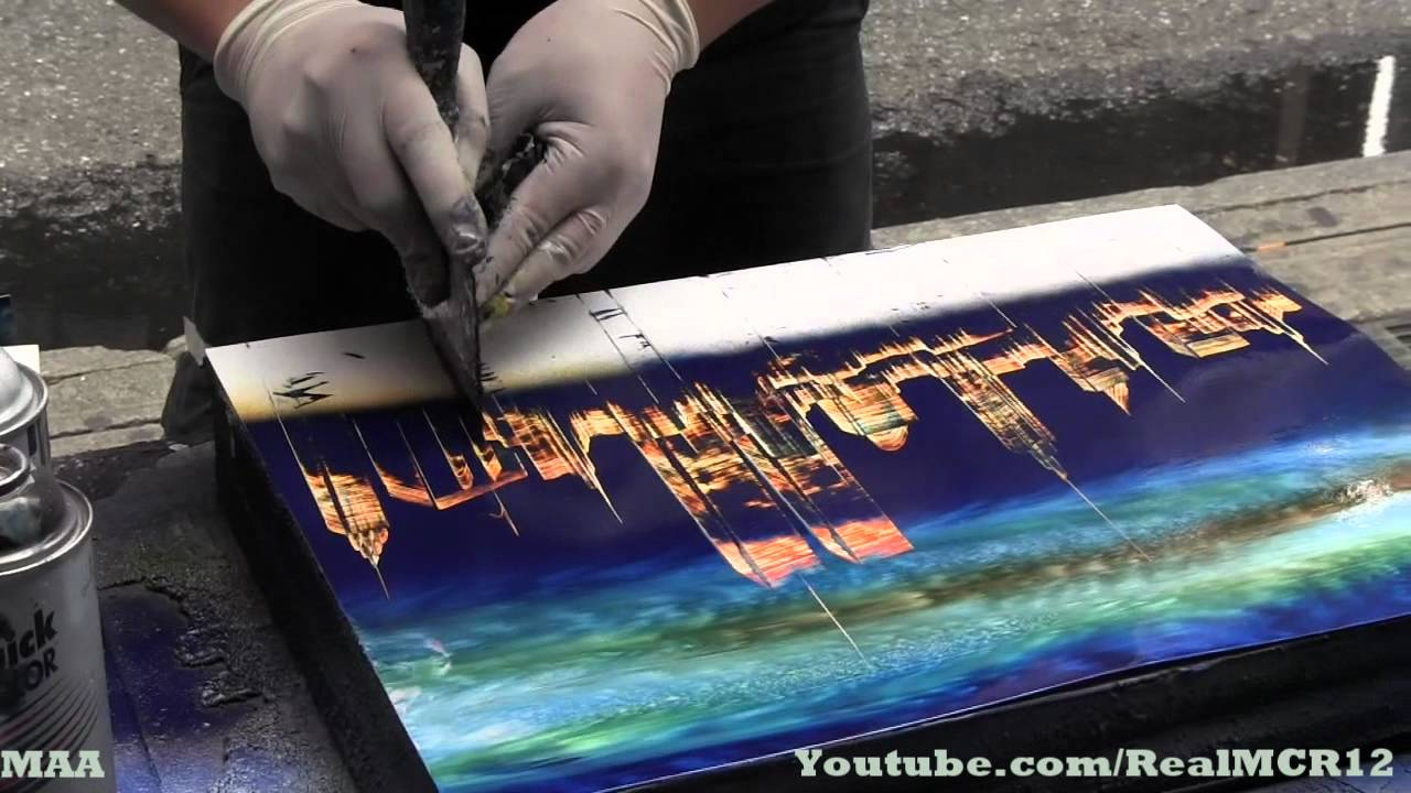 amazing talent new york city spray paint art. Black Bedroom Furniture Sets. Home Design Ideas