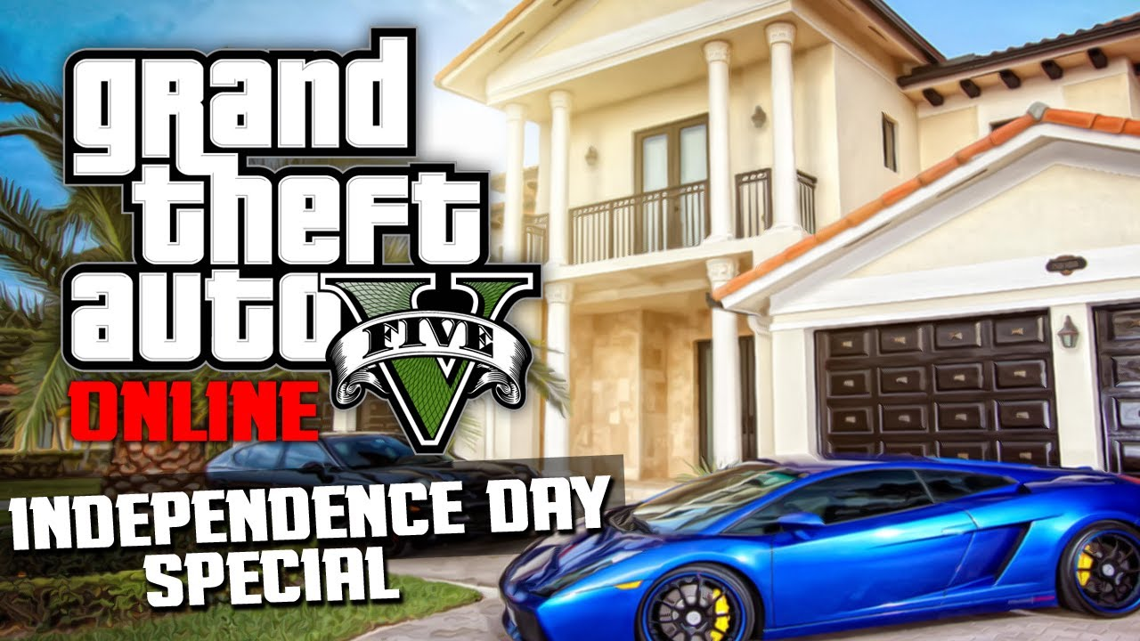 Gta 5 online buying all the houses from independence day 1 for Buy house online